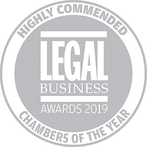 Highly commended for Legal Business Awards 2019: Chambers of the Year