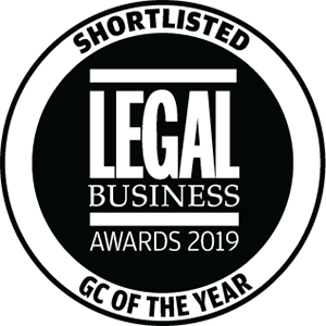 Shortlisted for Legal Business Awards 2019: GC of the Year
