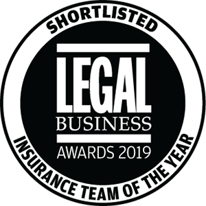 Shortlisted for Legal Business Awards 2019: Insurance Team of the Year