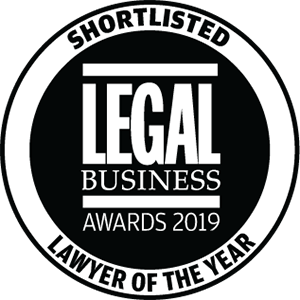 Shortlisted for Legal Business Awards 2019: Lawyer of the Year