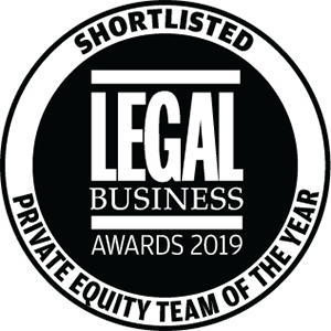 Shortlisted for Legal Business Awards 2019: Private Client Team of the Year
