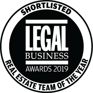 Shortlisted for Legal Business Awards 2019: Real Estate Team of the Year