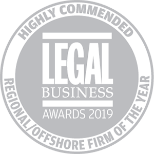 Highly commended for Legal Business Awards 2019: Regional/Offshore Firm of the Year