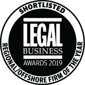 Shortlisted for Legal Business Awards 2019: Regional/Offshore Firm of the Year