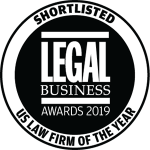 Shortlisted for Legal Business Awards 2019: US Law Firm of the Year